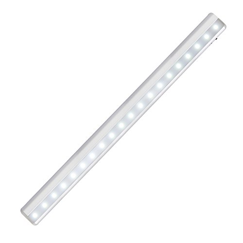 KEDSUM PIR Motion Sensor Cabinet Light 20-LED Night Light/Stairs Light with Magnetic Strip,DIY Stick-on Wall Lamp for Kitchen Cupboard Closet Wardrobe -Cool White Lights Test