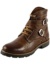 Bacca Bucci Men Brown Faux Leather Boots