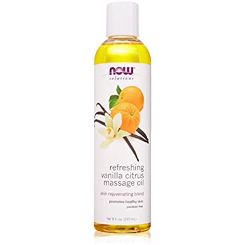 Now Foods Refreshing Vanilla Citrus Massage Oil, 8 fl. Oz