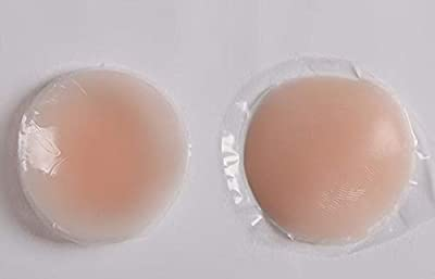 Women's Silicone Nipple Cover Bra Pad Skin Adhesive Reusable(Beige)
