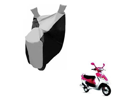Auto Hub Bike Body Cover For TVS Scooty Pep Plus - Black/Silver  available at amazon for Rs.299