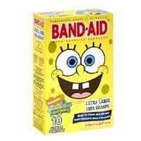 Band-Aid SpongeBob Squarepants Extra Large Adhesive Bandages - 10 Ea by Johnson & Johnson