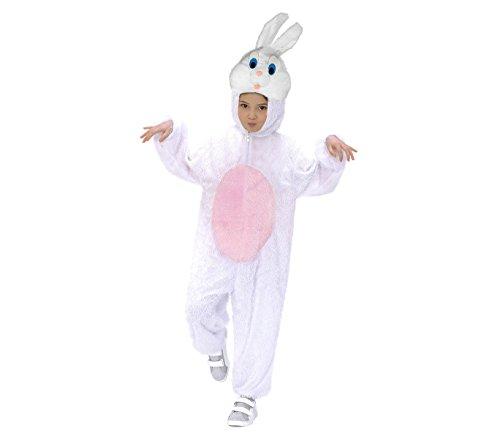 Media wave store 227639 costume carnevale a tutina coniglio bianco bimbo - bimba da 3 a 4 anni