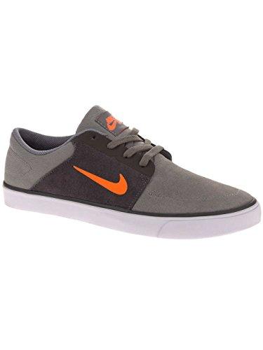 Nike SB Portmore (GS) Skate Shoes Boys tumbled grey / orange / grau Gr. tumbled grey/orange