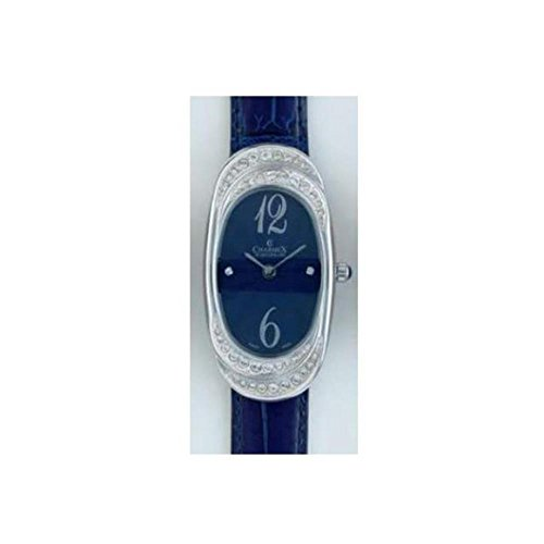 Charmex L's Strap Watch Women's 47mm Blue Calfskin Synthetic Sapphire Watch 5787