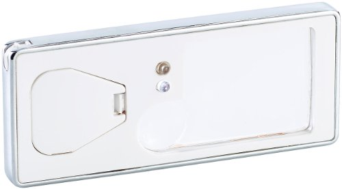 PEARL Lupe mit Licht: Handliche Leselupe mit Licht, Geldscheinprüfer & Kugelschreiber (Beleuchtete Lupe)