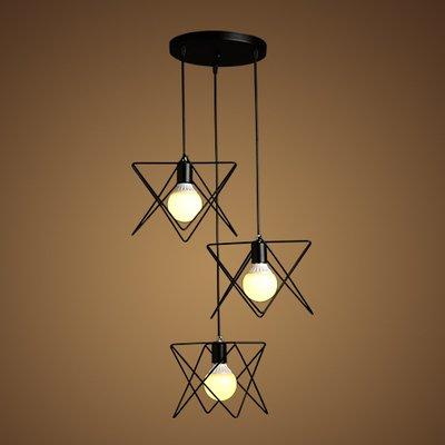 Luckyfree Kreative Modern Fashion Anhänger Leuchten Deckenleuchte Kronleuchter Schlafzimmer Wohnzimmer Küche, Disc drei Kopf * + Lampe Warm Glow Kabel 1 m Länge