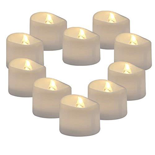 Supmaker luce di candela, set di 12 candele a led senza fiamma con timer decorazioni per natale halloween matrimonio compleanno regalo casa giardino esterno feste, bianco caldo