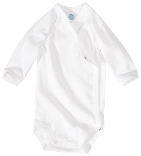 Bodey sencillo blanco de algodón, talla: 68cm (6-9 meses)