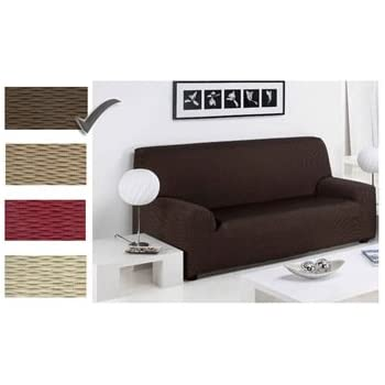 3 SEATER   Easy Stretch Elastic Fabric SOFA/SETTEE SLIP COVER Chocolate  Brown U0027Sofa