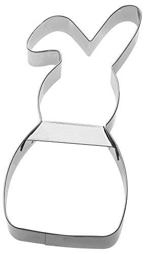 Birkmann 1010691910 Ausstechform Hase Schlappohr 19,5 cm, Kunststoff, Grau, 5 x 3 x 2 cm