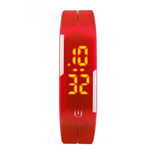 Mode LED-Armband Kinder Studenten Männer Und Frauen Paare Elektronische Uhren Uhren,Red