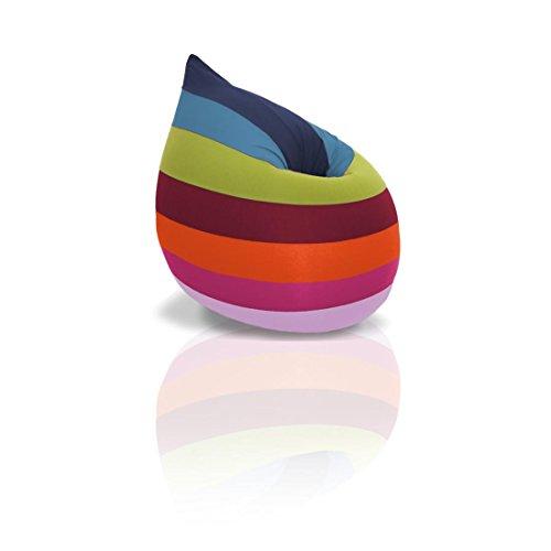 terapy Elly Special Edition Relax Pouf, pouf Coussin 100x 80x 50cm–Ergonomic Bean Bag, Happy Rainbow, 100x80x50cm