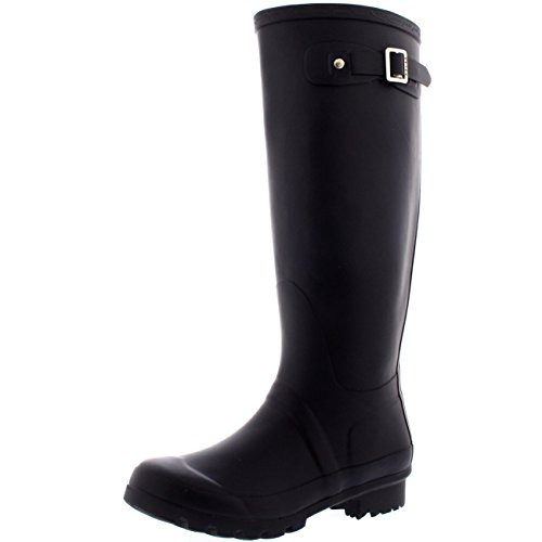 Damen Original Tall Schnee Winter Regen Wellies Gummistiefel Stiefel Dunkelviolett