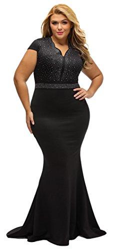 la-vogue-damen-mit-diamant-festkleid-abendkleid-plus-size-schwarz-3xl-lnge158cm
