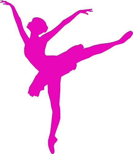 Kostüm Verschiedene Barbie - EmmiJules Wandtattoo Ballerina Tänzerin - Made in Germany - in verschiedenen Größen und Farben - Kinderzimmer Mädchen Ballett Sport Wandsticker Wandaufkleber (60cm x 50cm, rosa)