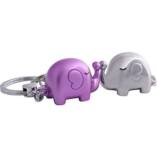 PLL Kreative Auto Schlüsselanhänger Anhänger Niedlich Küssen Elefant Modellierung Liebhaber Schlüsselbund Schlüsselanhänger Touchpad