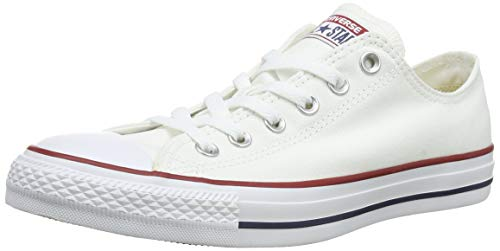 Converse Chuck Taylor All Star Ox, Zapatillas de Tela Unisex Adulto, Blanco (Optical White), 38 EU
