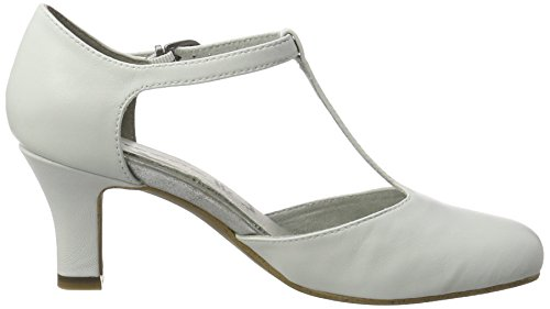 Tamaris 24490, Scarpe con Chiusura a T Donna Bianco (White 100)