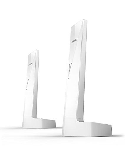Philips Linea V M3502W 2  - Teléfonos inalámbricos duo diseños con manos libres, bloqueo de llamadas, sonido puro y claro, blanco