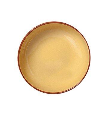 Assiette creuse en terre cuite Jaune 6 pièces, diamètre 190 mm