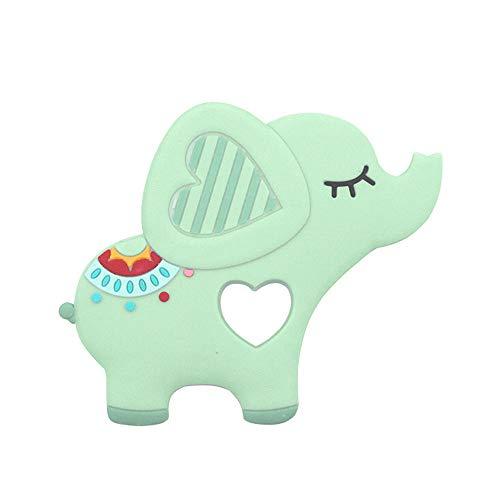 Webla Spielzeuganhänger für kaubare Beißsilikonschnuller für Elefantenbabys, Pu -