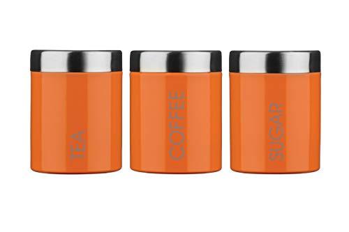 Premier Housewares Liberty Behälter für Tee, Kaffee und Zucker Orange