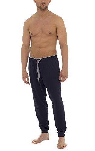 i-Smalls Herren Pyjama Jersey Lounge Bottoms mit Augenmaske (L) Marine -