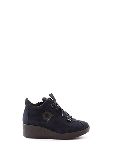 Agile By Rucoline 226 A NEW SUEDE BLU,sneaker donna ,scarpe donna,lacci,cerniera,camoscio (35, blu)