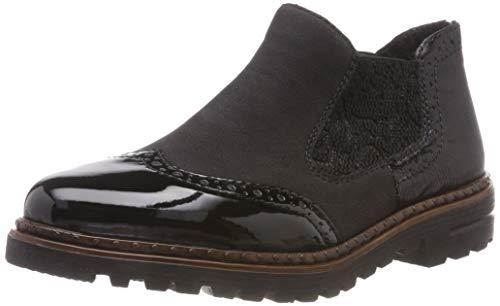 Rieker Damen 54893 Chelsea Boots, Schwarz (Schwarz/Schwarz/Black/Schwarz 01), 42 EU