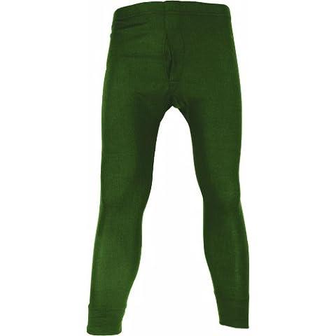 Baselayers - Pantacollant termici, 50% poliestere 50% cotone, verde (verde oliva), S - 50 Verde Oliva