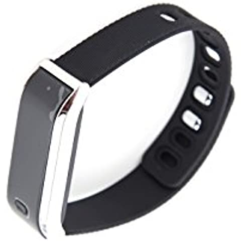 jorlyen OLED intelligente Bracciale Fitness Tracker Sport polso Bluetooth 4.0, pedometro, conta calorie Counter Salute sonno Monitor Wristband per Android 4.3/4.4/4.5/5.0/5.1, iOS 7,08,08,1/4s/5s/6/6S Smartphone