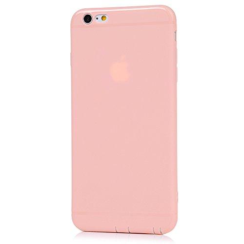 iPhone 6/6S Hülle KASOS iPhone 6/6S Handyhülle Schale TPU Etui Protective Case Schützende Stoßdämpfung Cover mit Stöpsel Staubschutz Schwarz Rosa nackt