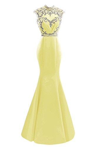 Fanciest -  Vestito  - linea ad a - Donna Giallo