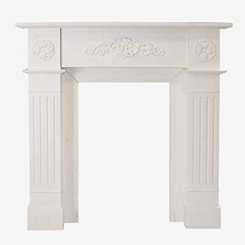Better & Best 2711412 Frente chimenea madera rústica blanca de madera, color:...