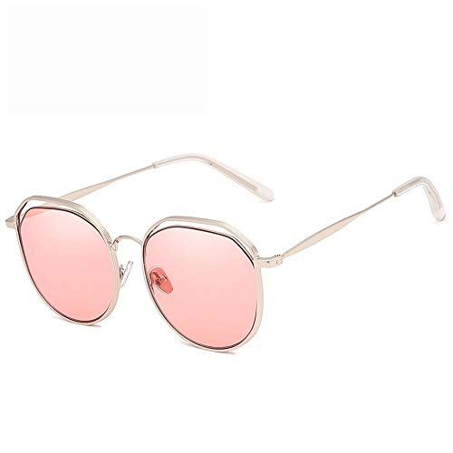 Yiph-Sunglass Sonnenbrillen Mode Driving Aviator Sonnenbrillen Herren Damen Polarisierte Linse Metallrahmen Sonnenbrillen (Farbe : Rosa, Größe : Casual Size)