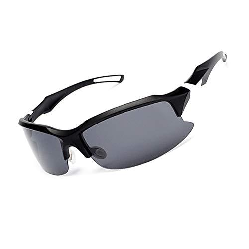 MaxAst Sonnenbrille Brille Motorrad Herren Unisex Schutzbrille Outdoor Matte Schwarz Weiß