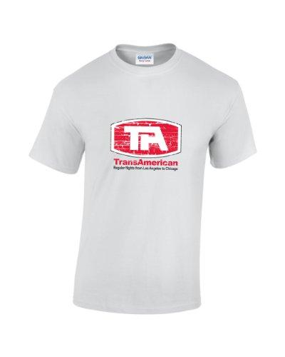 Vintage Filmposter TransAmerican Fluggesellschaft T-Shirt (Weißes T-shirt Fluggesellschaften,)