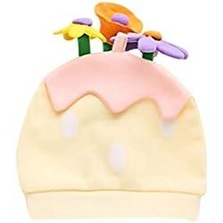 Lovinda Sombrero de Invierno Moda Bebé Niña Niño Recién Nacido Kawaii Flor Sombrero Mantener Caliente x 1 Pieza