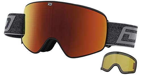 Dirty Dog 54225 Matte Black / Red Mirror / Yellow Matte Black / Red Mirror / Yellow Mutant Legacy 0.5 Visor Sunglasses Lens Mirrored Size 90mm