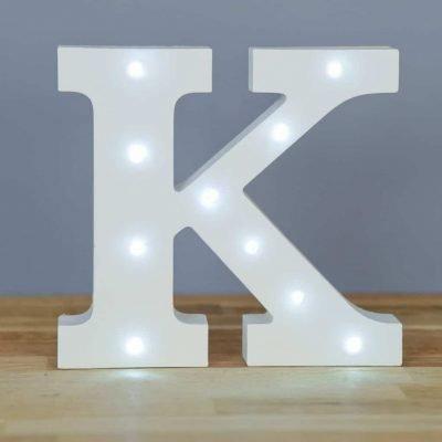 Alphabet Buchstabe Lights–Dekorative LED weiß Holz Buchstaben, ()