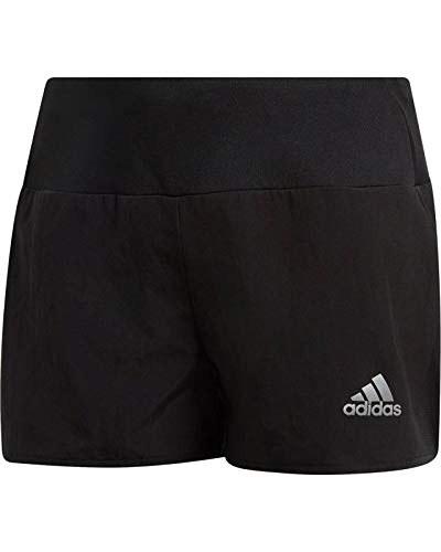 adidas Mädchen YG TR Run Shorts, Black/Reflective Silver, 11-12 Years