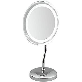 Led Illuminated 9 5 Quot Double Sided Table Mirror 5x