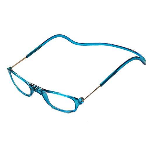 Herren Damen Lesebrille Magnet trennbar schwarz klassische Form und Farben leicht Federbügel Matt Look (2.5, Blau)