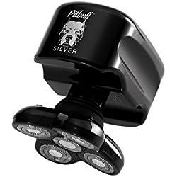 Skull Shaver Pitbull Silver - Maquinilla de afeitar eléctrica para cabeza y cara, color plateado
