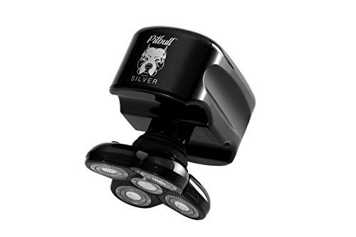 Skull Shaver Pitbull Silver Herren Elektrorasierer Bartschneider Haarschneider Rotationsrasierer (Pitbull Dusche)