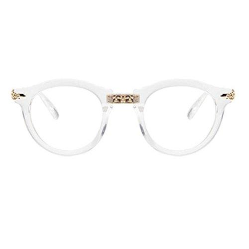 Retro Mode Runde Gläser Rahmen für Männer und Frauen-Transparent