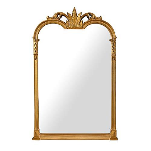 Espejo de pared Barroco Dorado Antiguo magnífico/Espejo Colgante Vintage/Dormitorio Salón Tocador/Decoración...