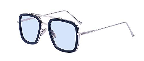 Outray Retro Spider Man Edith Sonnenbrille Tony Stark Brillen Square Eyewear Metallrahmen für Männer Frauen
