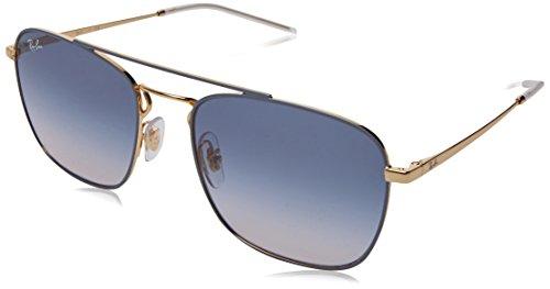 RAYBAN JUNIOR Herren Sonnenbrille RB3588 Gold Top On Light Grey/Lightbrowngradientblue 55